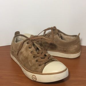 Pre-Owned Ugg Evera Chesnut Suede & Wool Sneakers